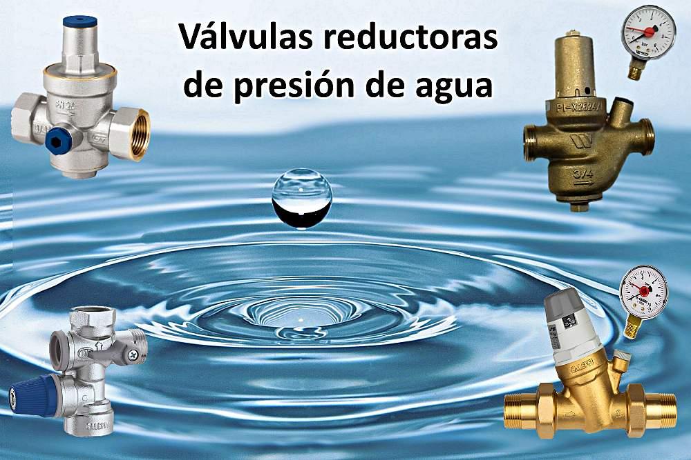 Válvula reductora de presión de agua para aparatos de ACS (calderas, termos, acumuladores, etc.)